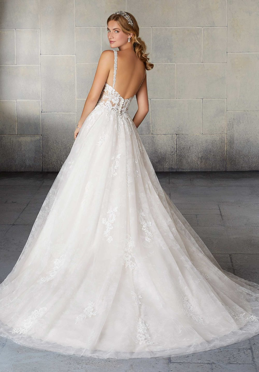 Morilee Wedding Gown Dress style 2120 back