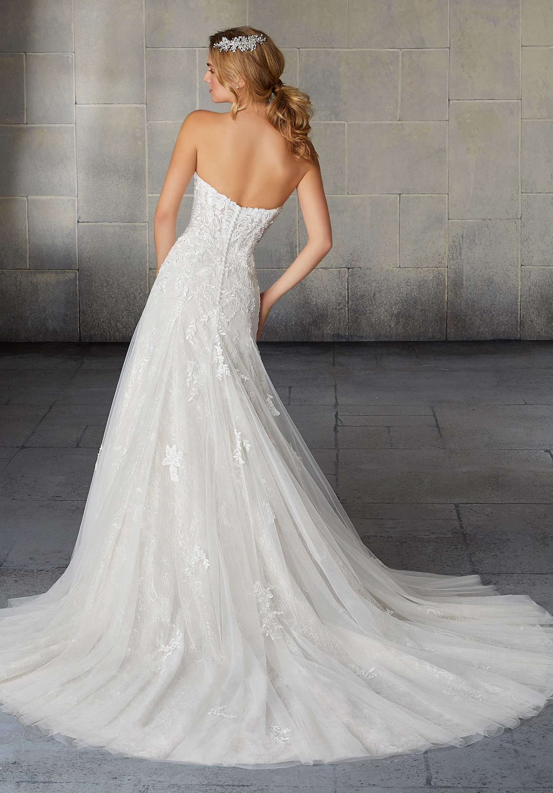 Morilee Wedding Gown Dress style 2122 back