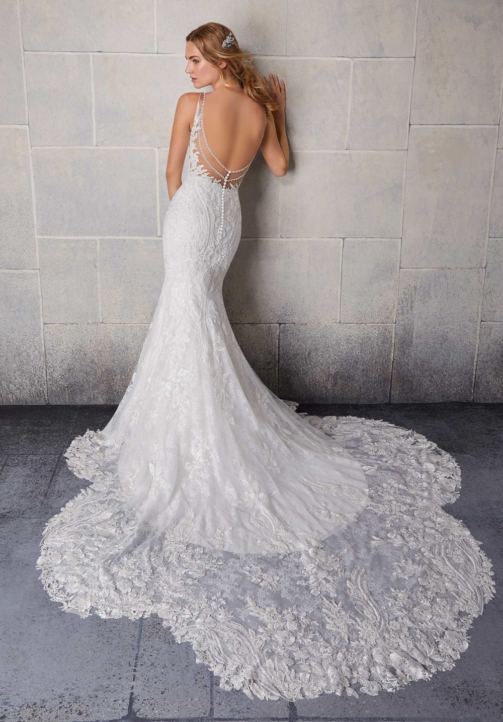 Morilee Wedding Gown Dress style 2123 back