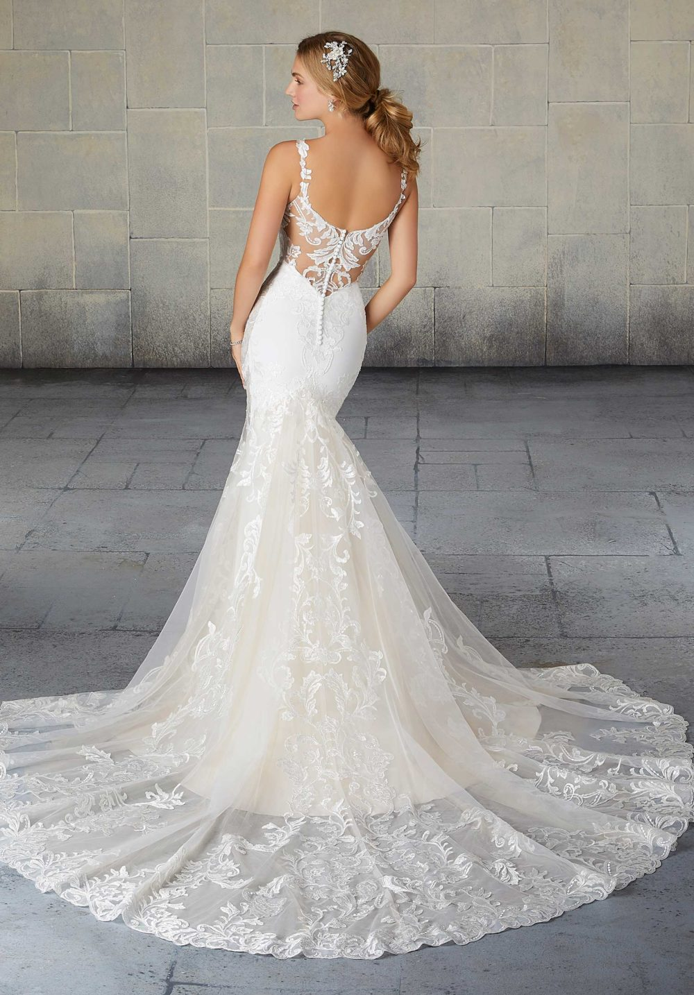 Morilee Wedding Gown Dress style 2124 back