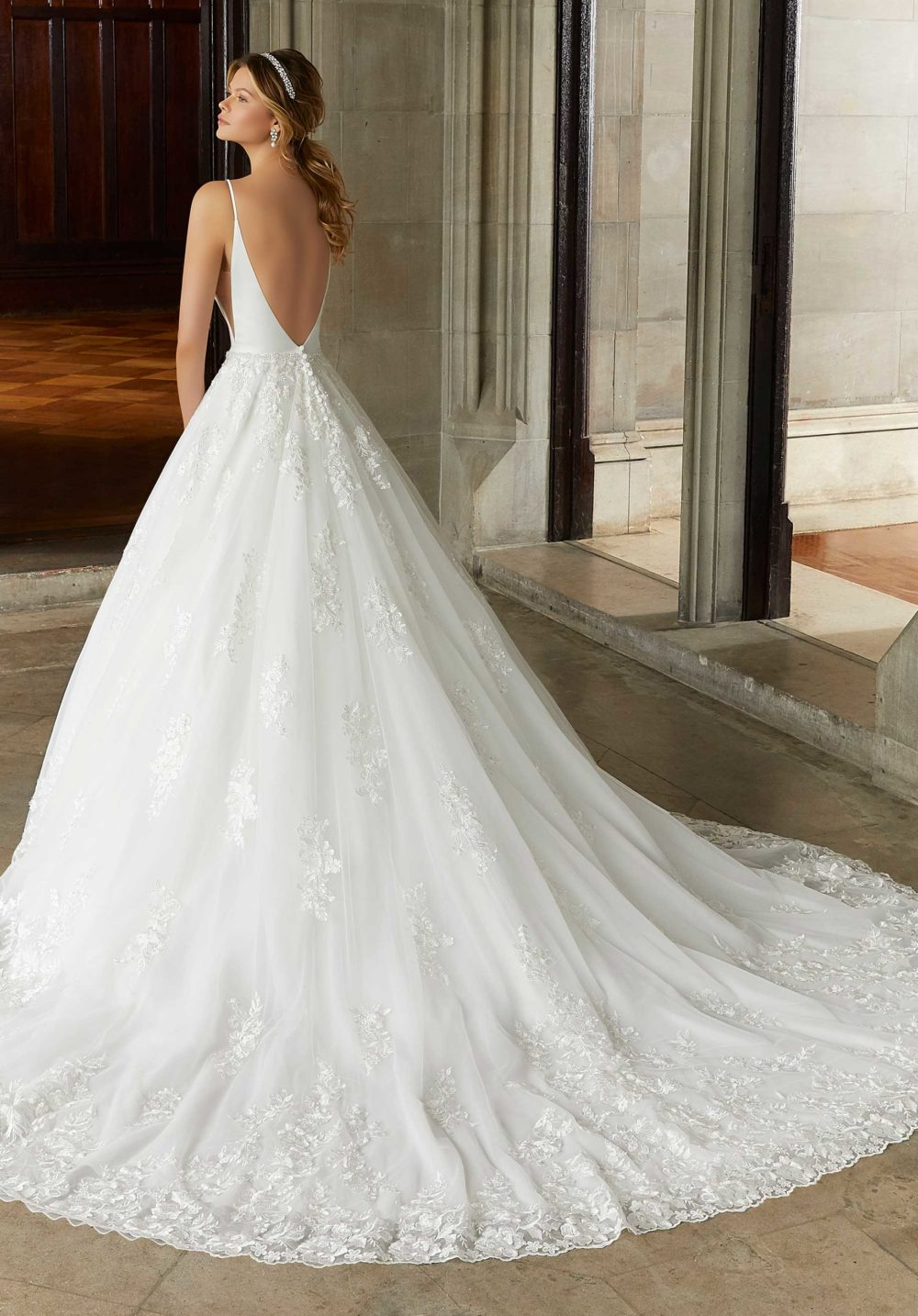 Morilee Wedding Gown Dress style 2125 back