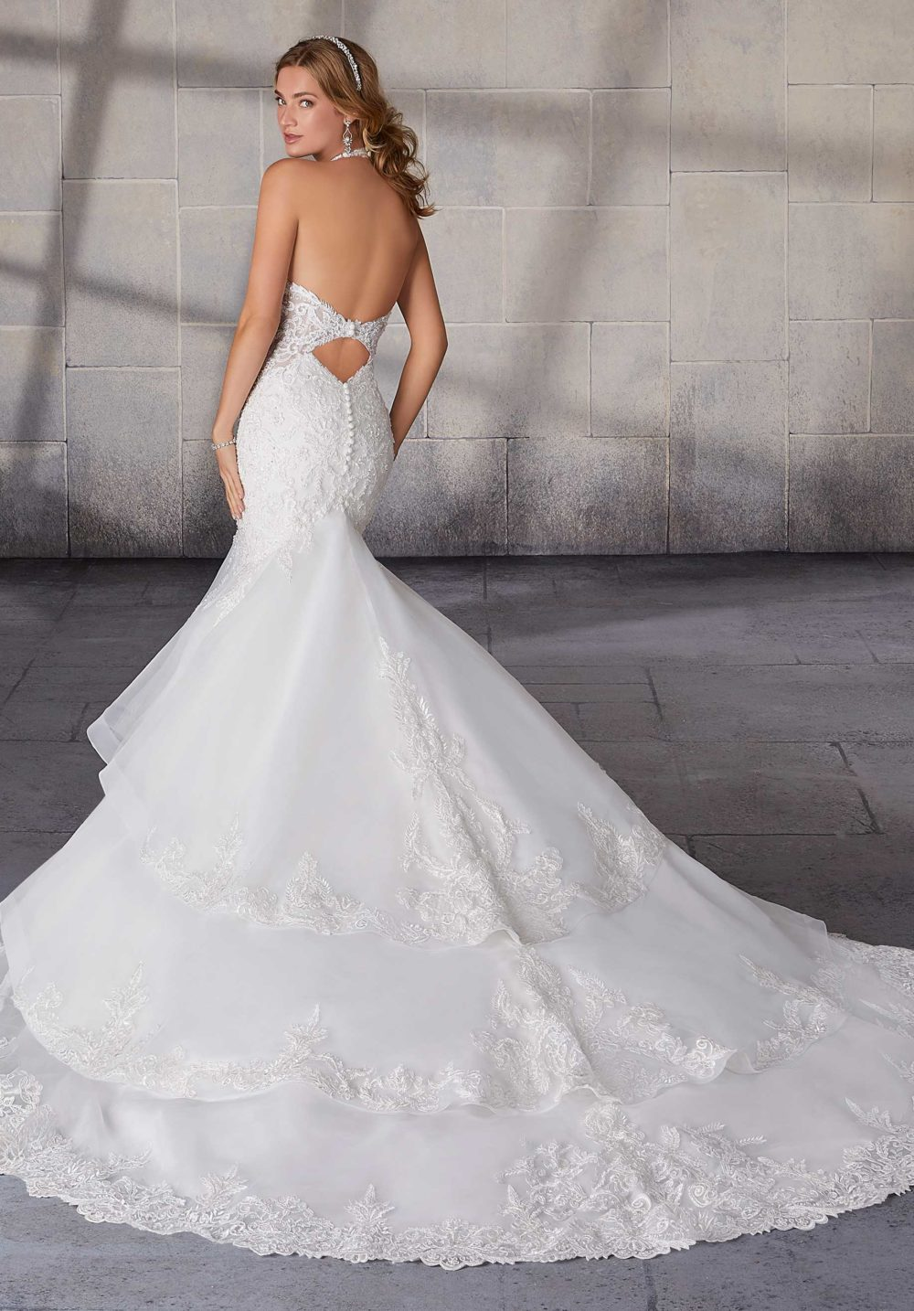 Morilee Wedding Gown Dress style 2126 back