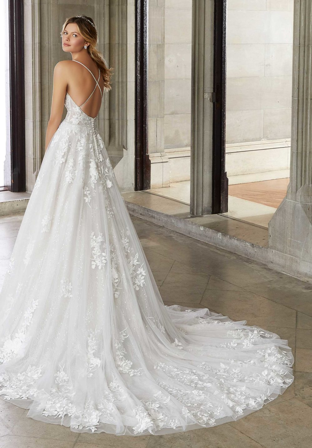 Morilee Wedding Gown Dress style 2127 back