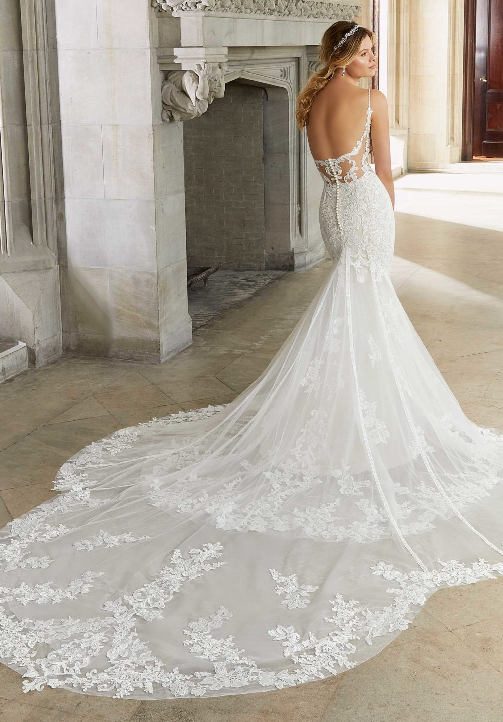 Morilee Wedding Gown Dress style 2128 back