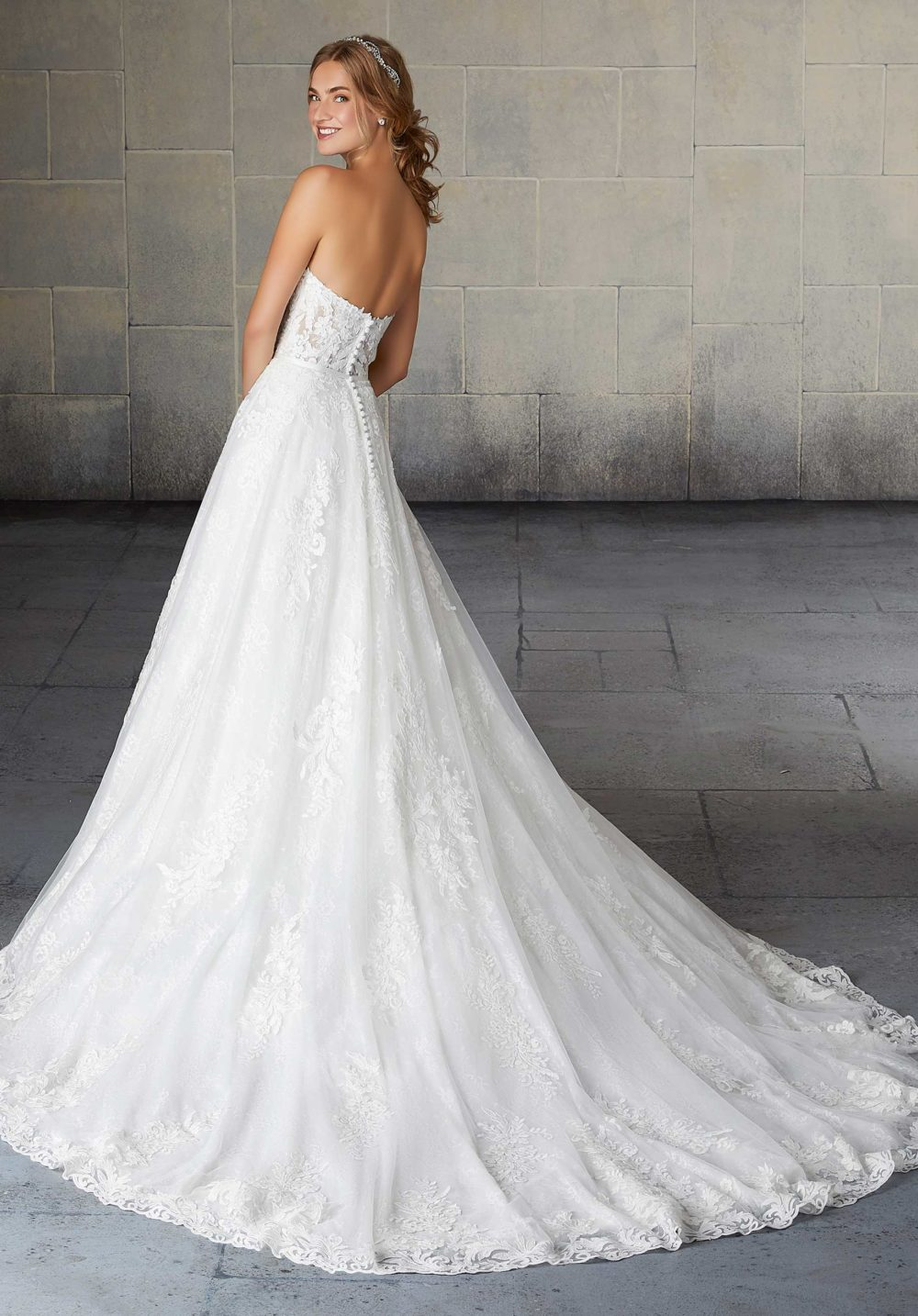 Morilee Wedding Gown Dress style 2132 back