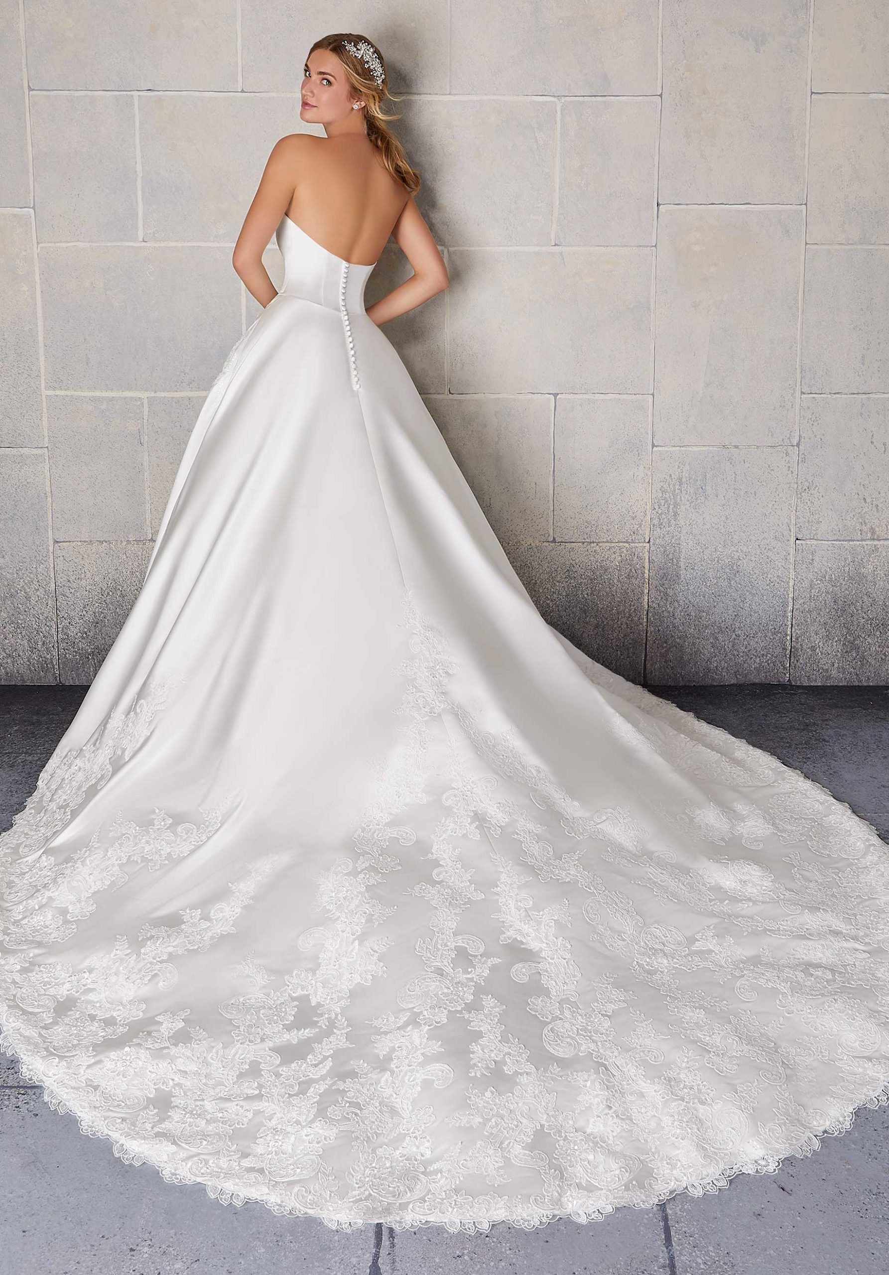 Morilee Wedding Gown Dress style 2134 back