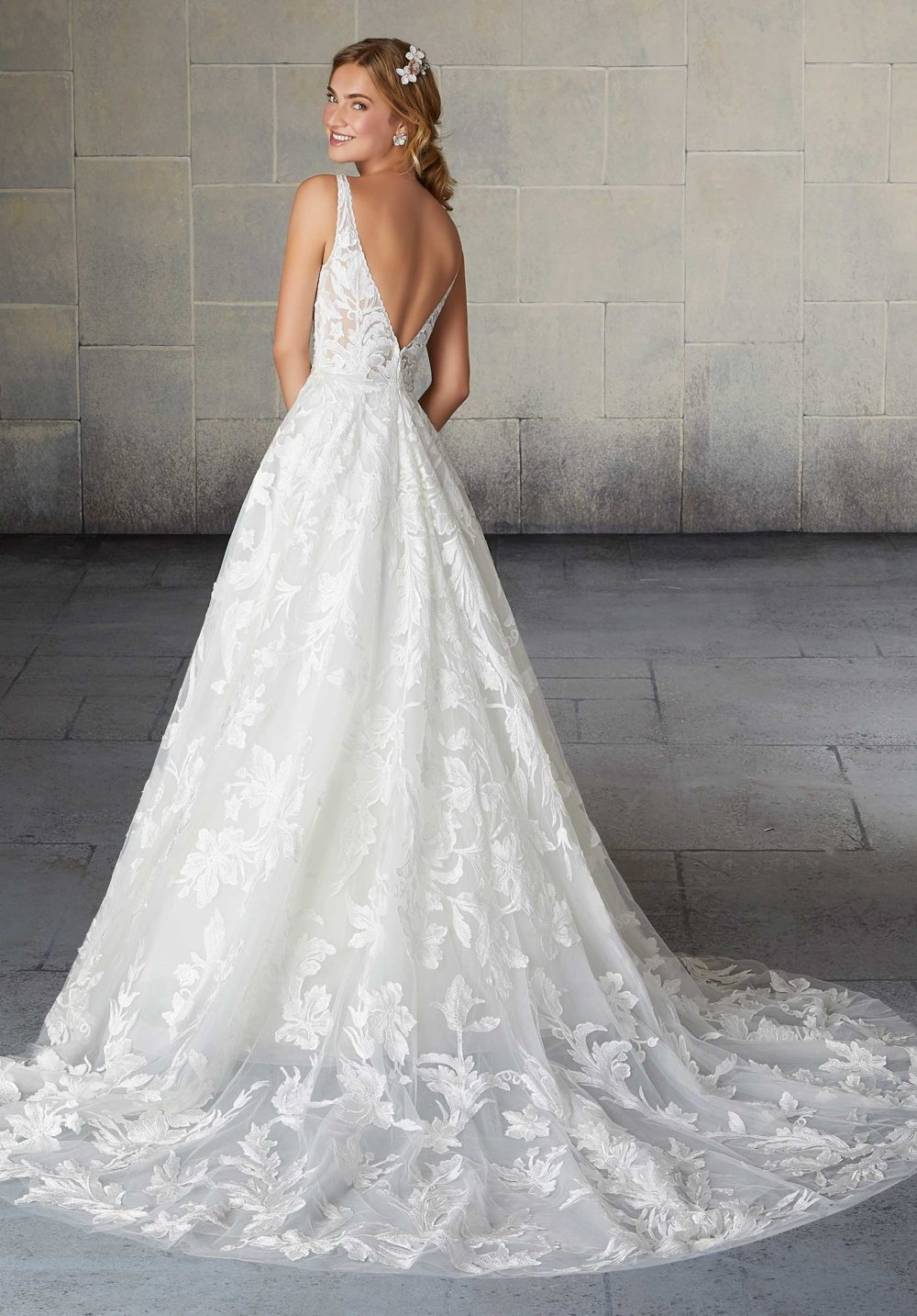 Morilee Wedding Gown Dress style 2135 back