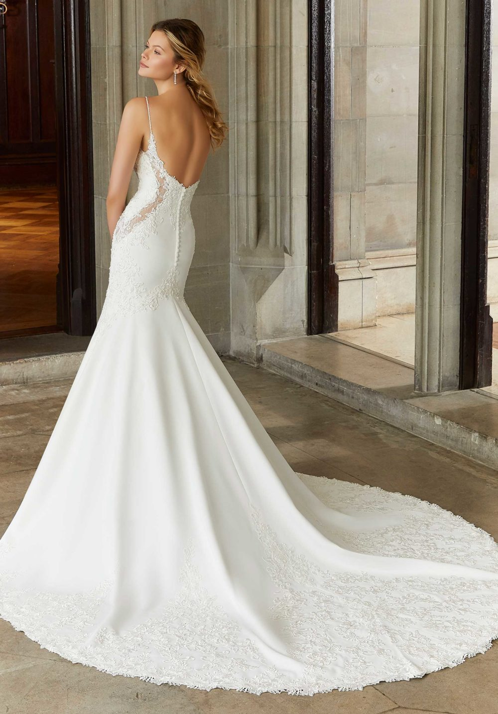 Morilee Wedding Gown Dress style 2136 back