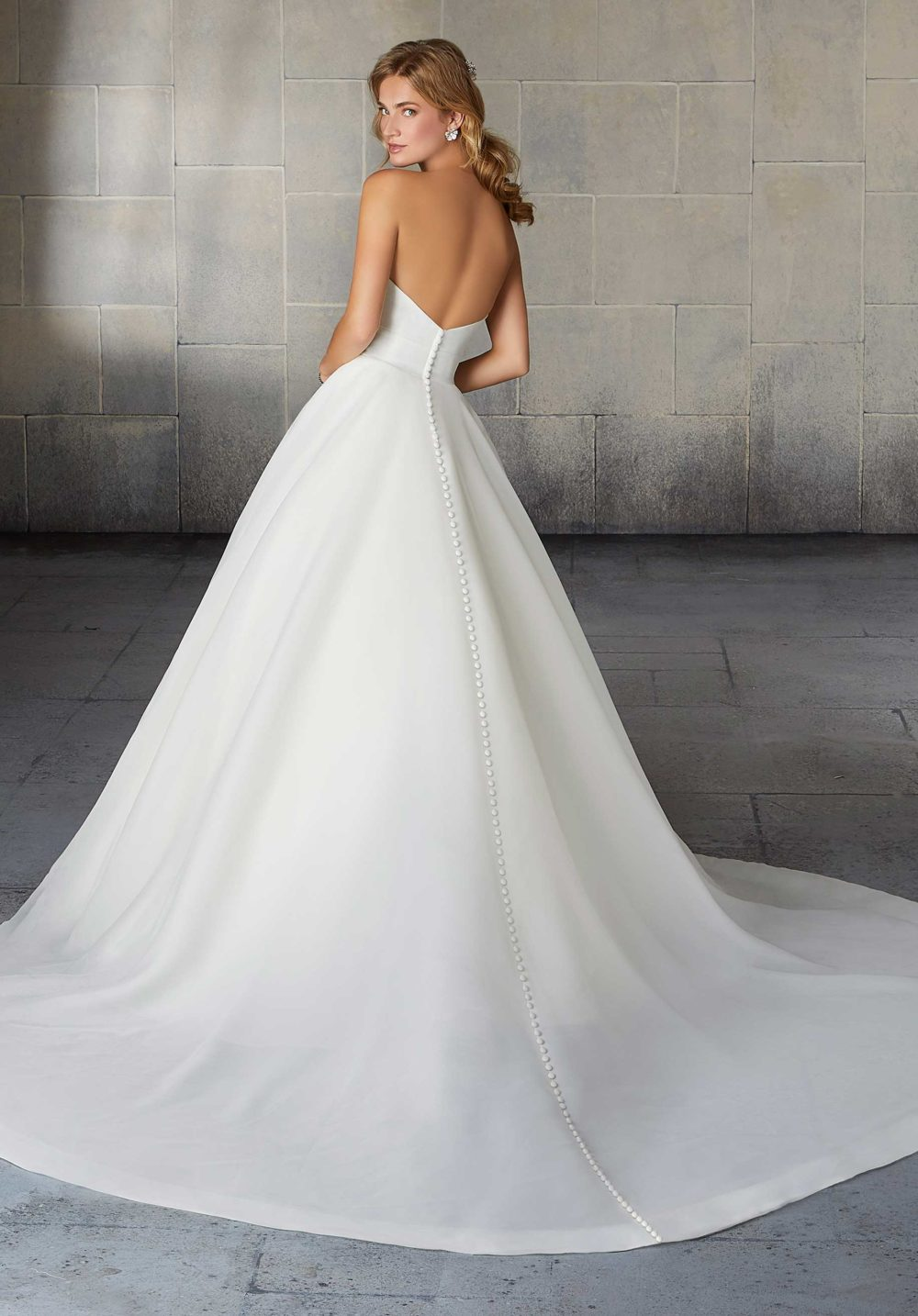 Morilee Wedding Gown Dress style 2138 back