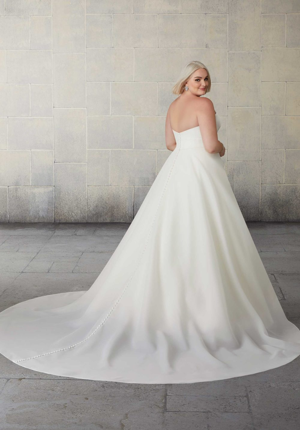 Morilee Wedding Gown Dress style 2138 W back