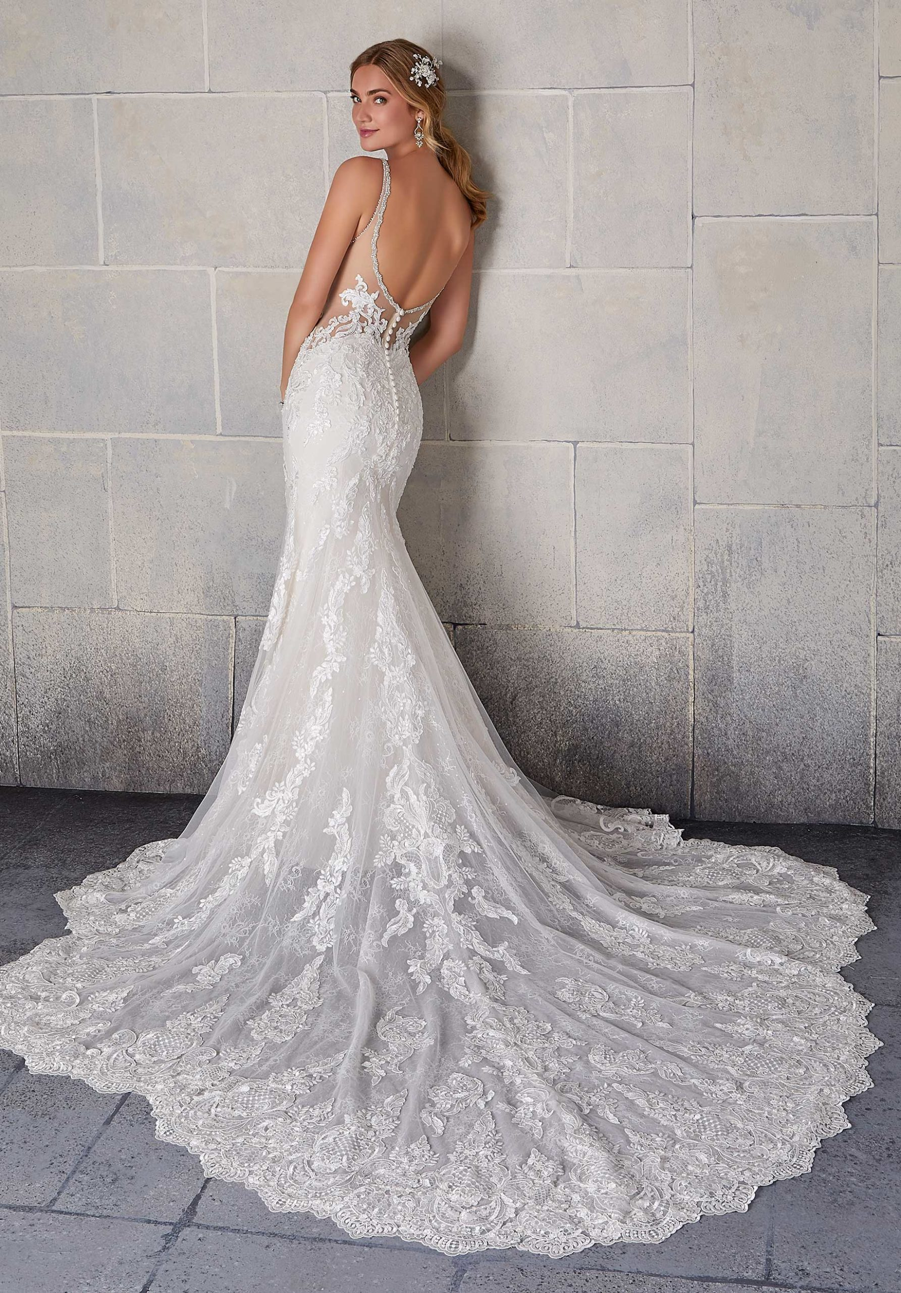 Morilee Wedding Gown Dress style 2139 back