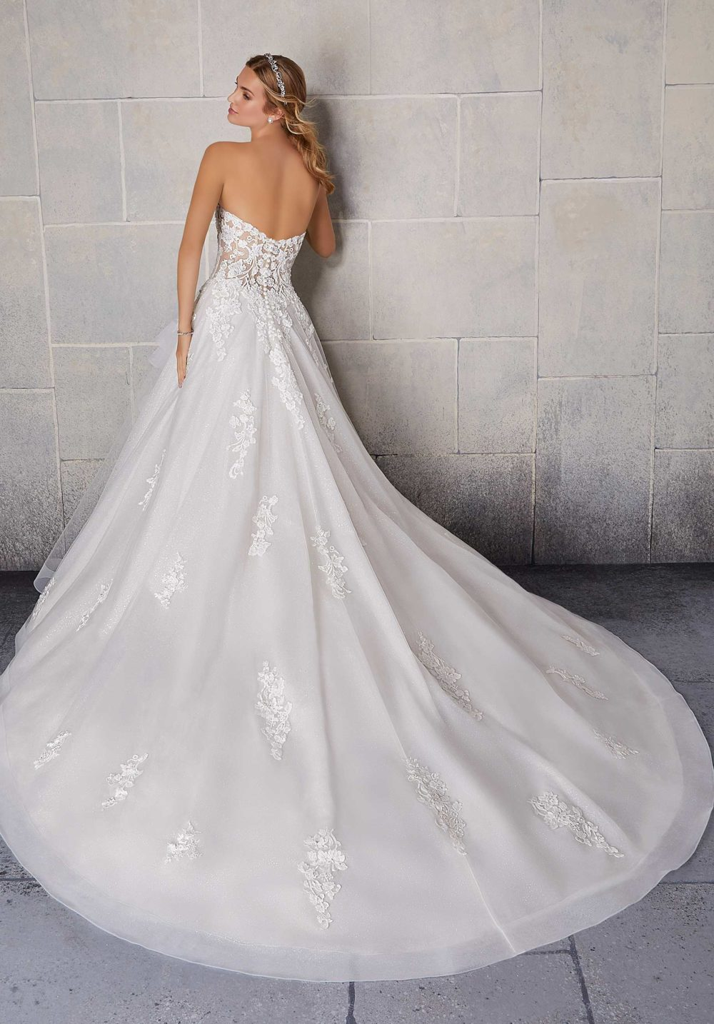 Morilee Wedding Gown Dress style 2140 back