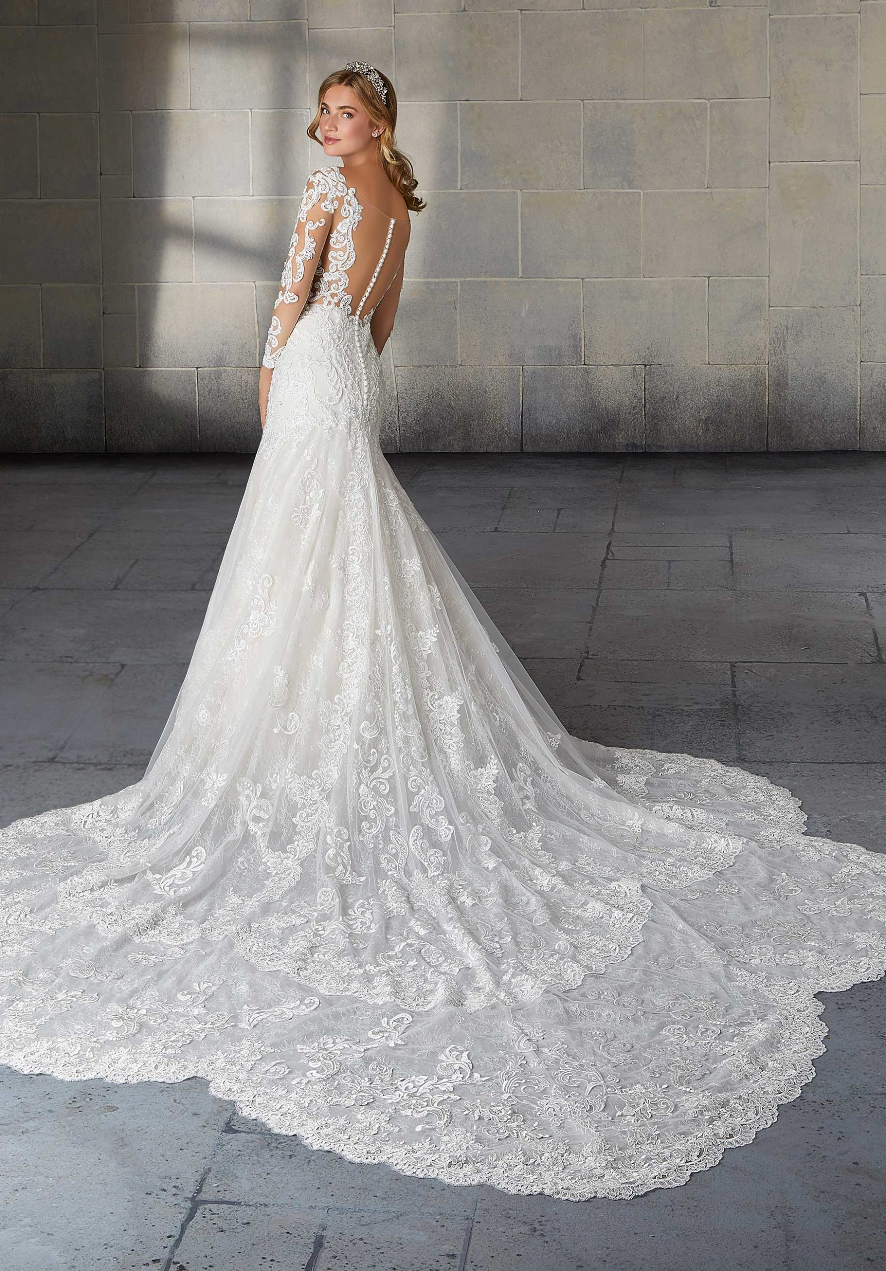 Morilee Wedding Gown Dress style 2141 back