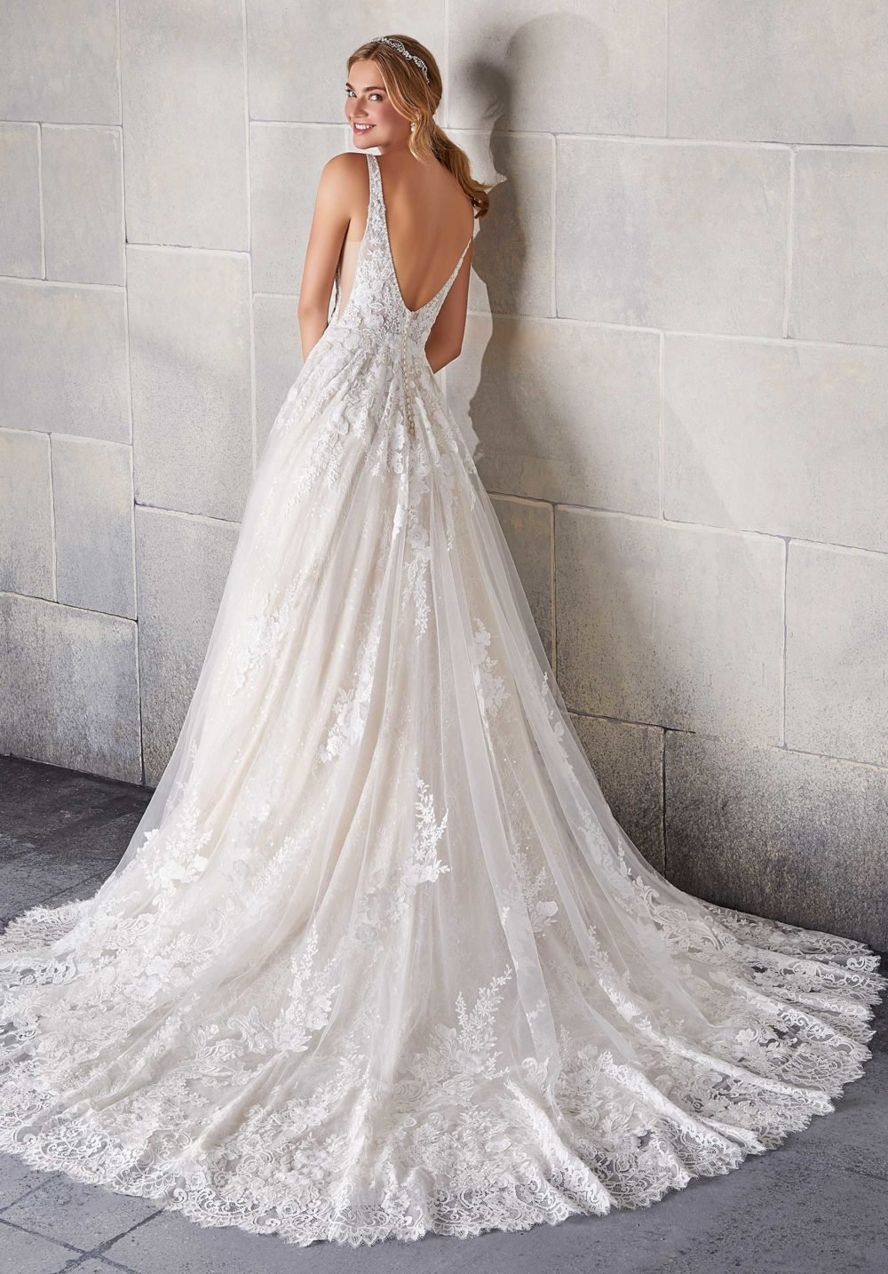 Morilee Wedding Gown Dress style 2142 back