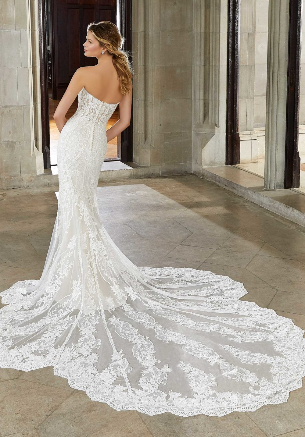 Morilee Wedding Gown Dress style 2143 back