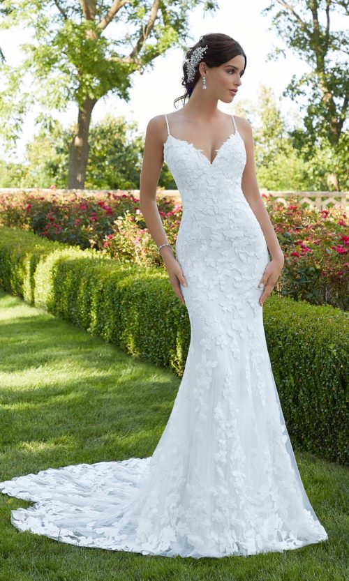Blu by Morilee wedding gown dress style 5802 front