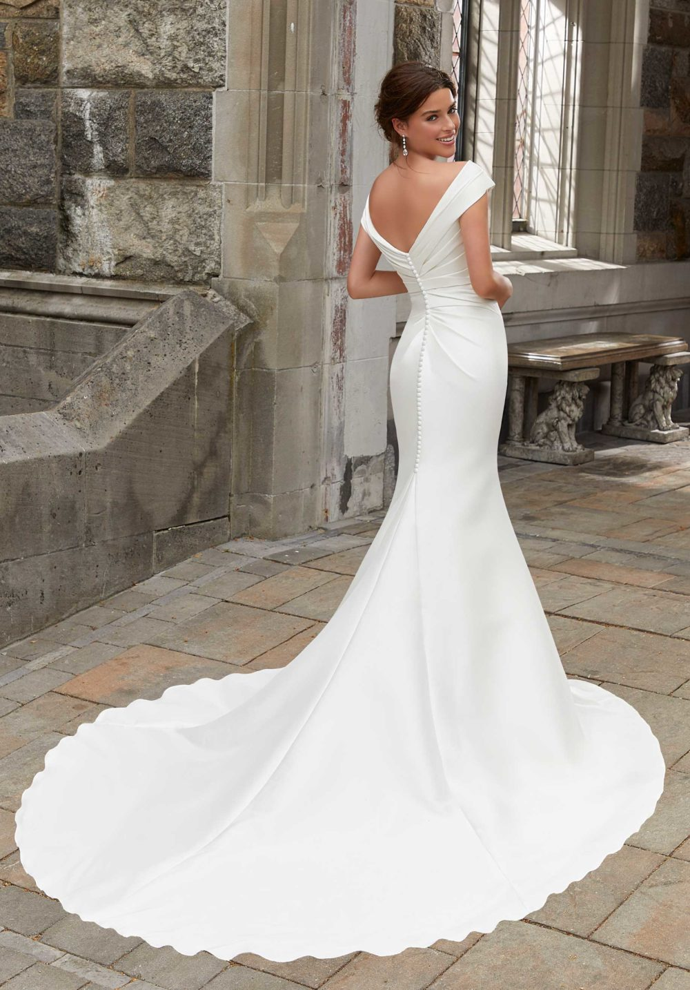 Blu by Morilee wedding gown dress style 5812 back