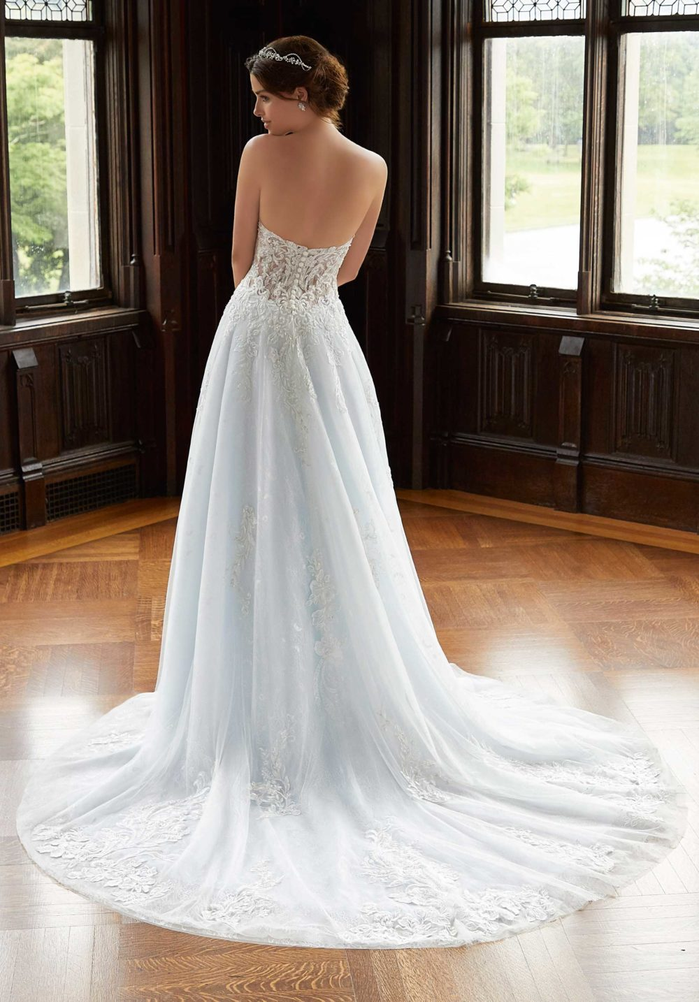 Blu by Morilee wedding gown dress style 5813 back