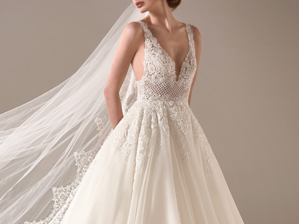 Pronovias Adwoa Wedding Gown Dress 2020 Privee Collection front