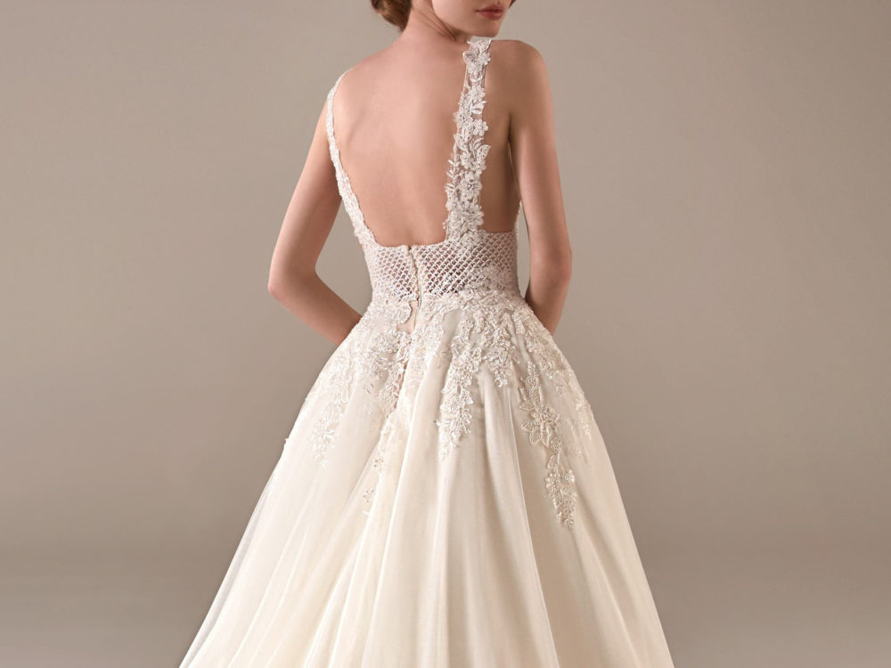 Pronovias Adwoa Wedding Gown Dress 2020 Privee Collection back detail