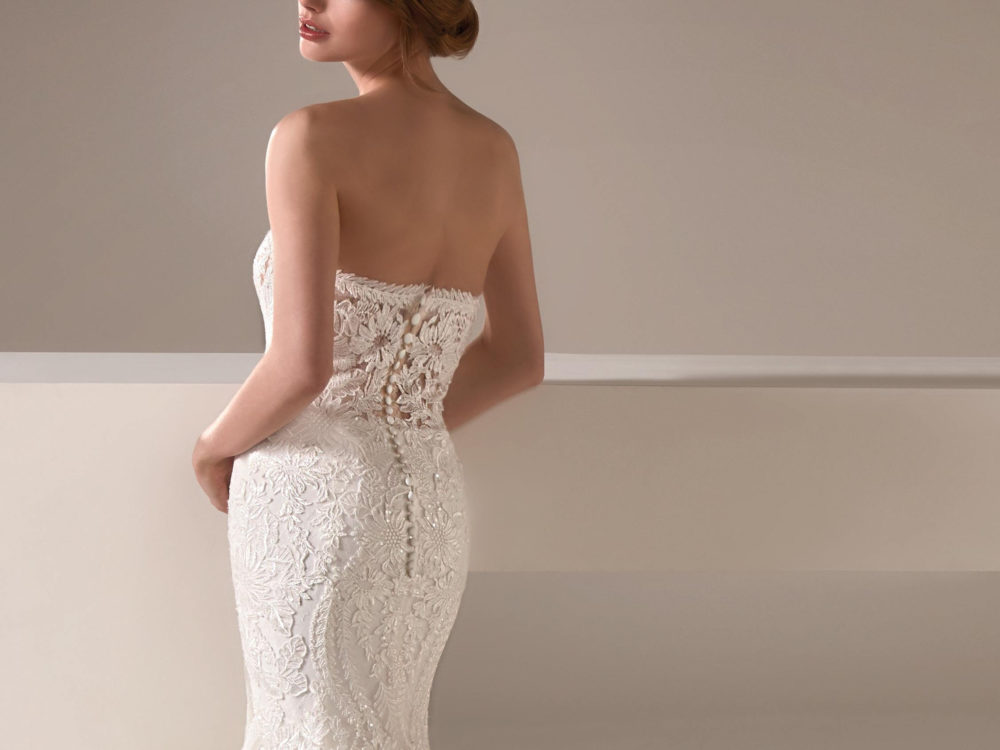 Alison Wedding Dress Gown from Pronovias Privee Collection back detail