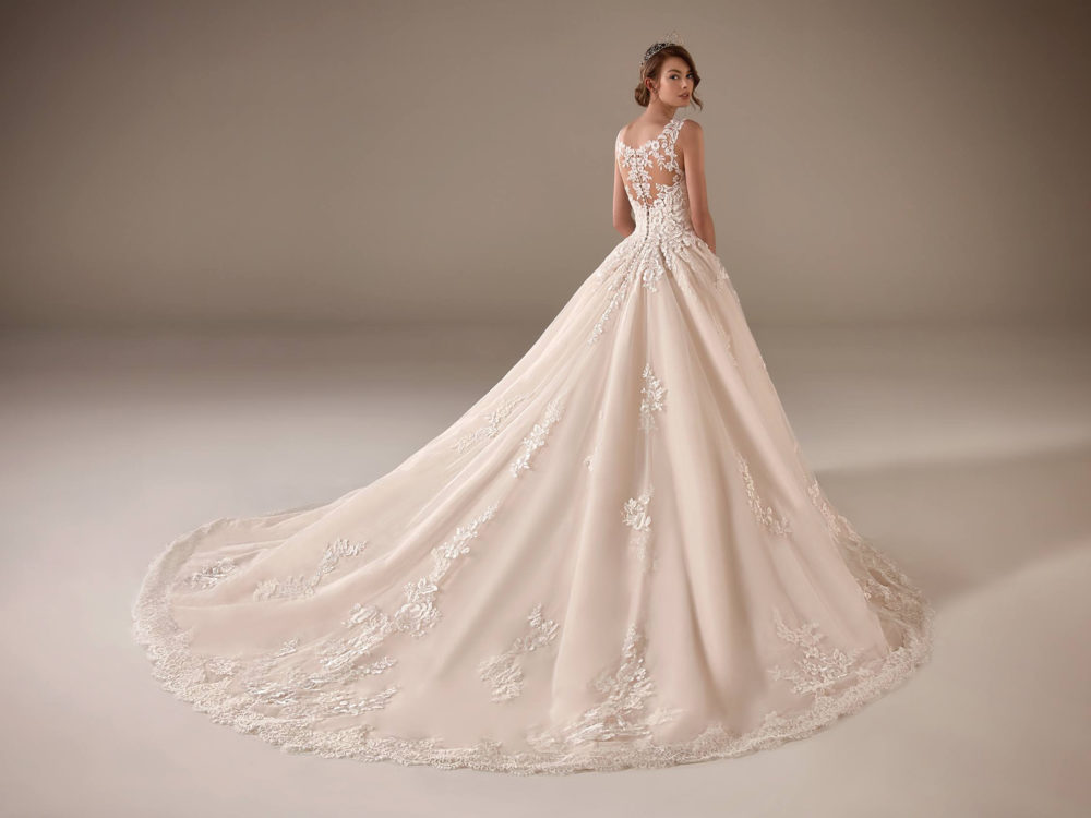 Amal Wedding Dress Gown from Pronovias Privee Collection Back