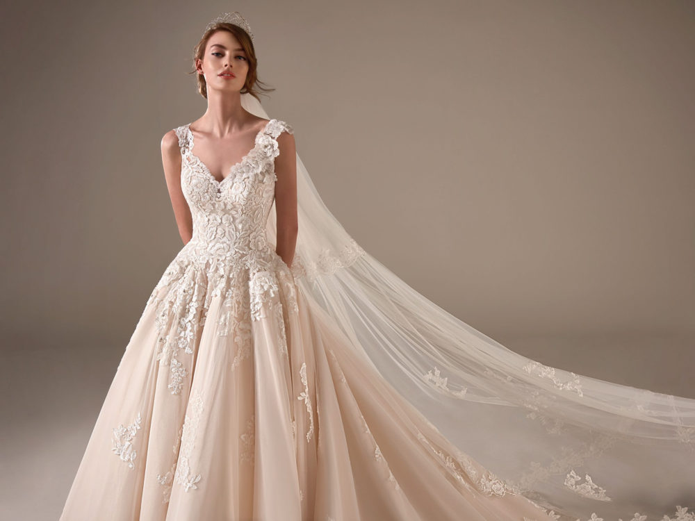 Amal Wedding Dress Gown from Pronovias Privee Collection front