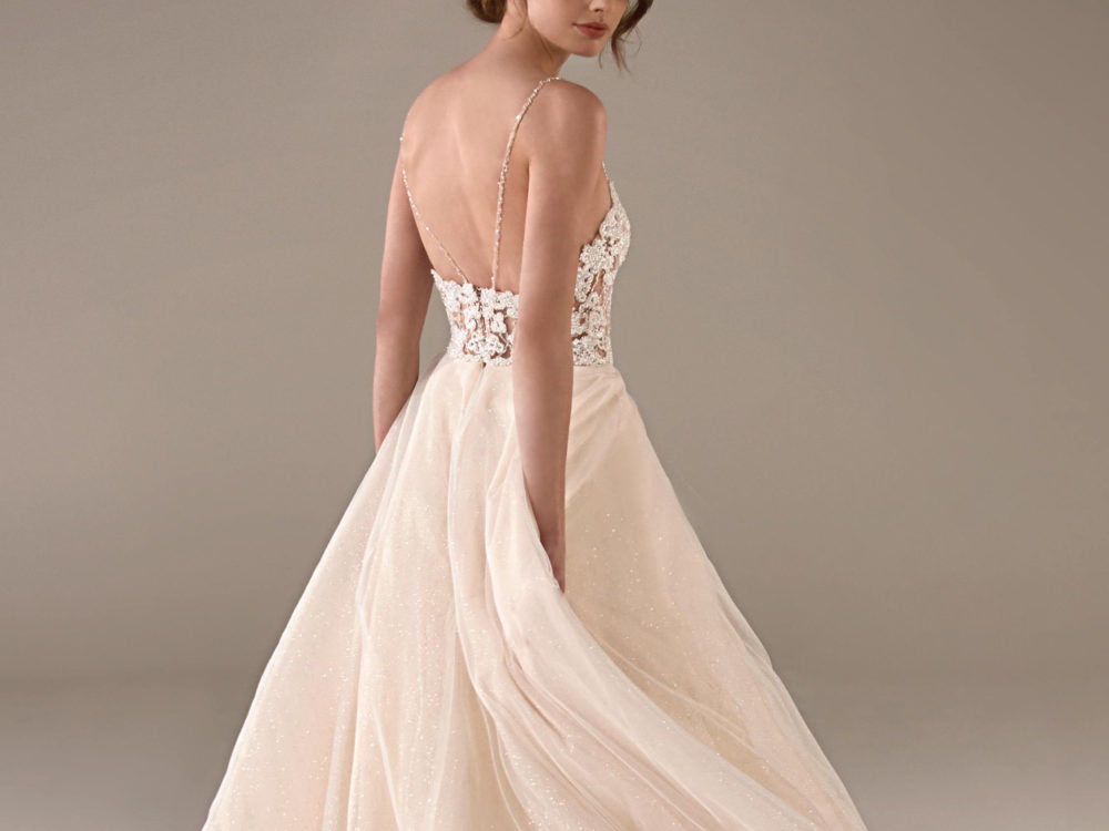 Beth Wedding Dress Gown from Pronovias Privee Collection back detail
