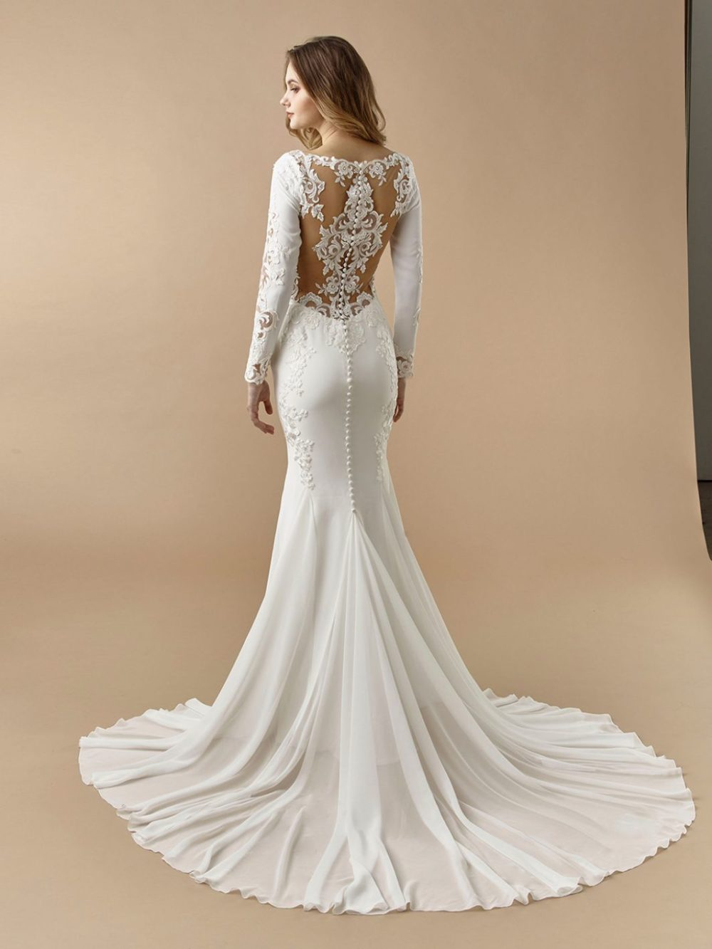Beautiful by Enzoani Wedding gown dress BT20-11 back