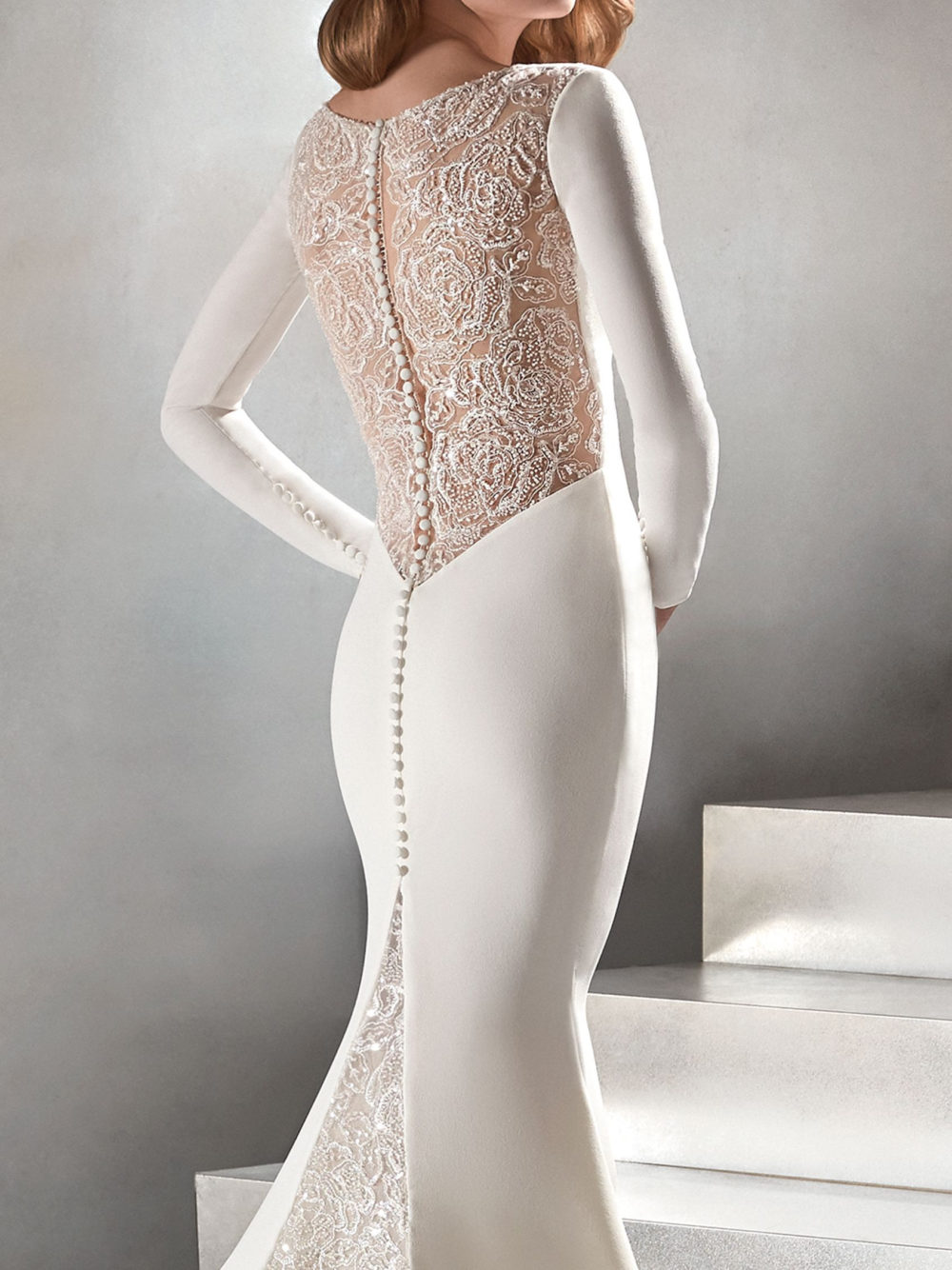 Pronovias Atelier Caceres Wedding Dress 2020 Back Detail