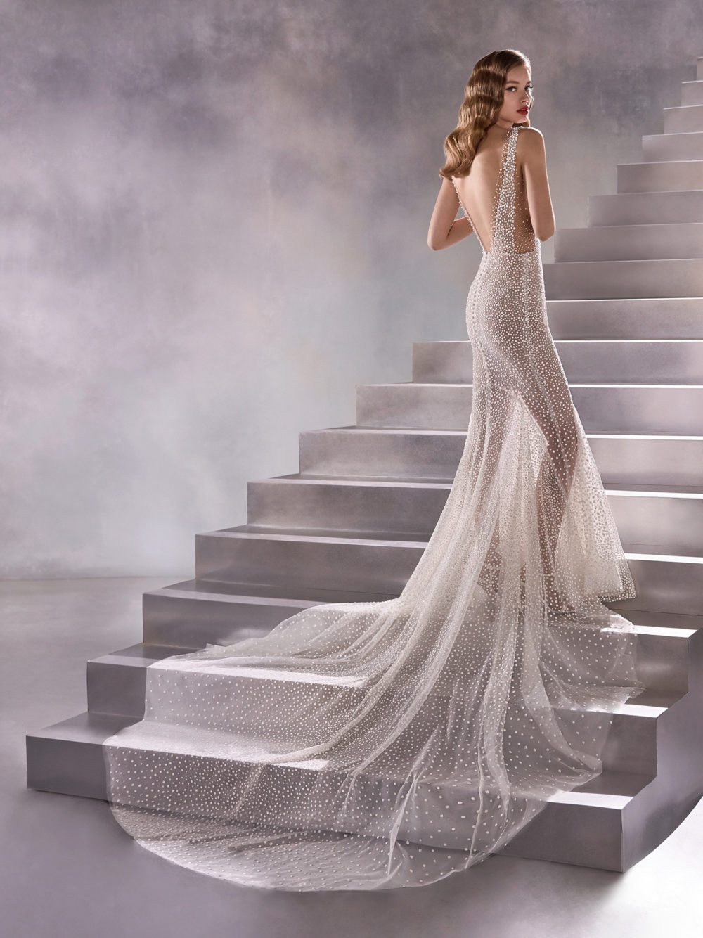 Pronovias Constellation Wedding Gown Dress 2020 Atelier Collection full