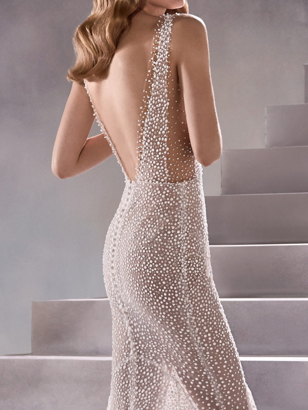 Pronovias Constellation Wedding Gown Dress 2020 Atelier Collection back detail