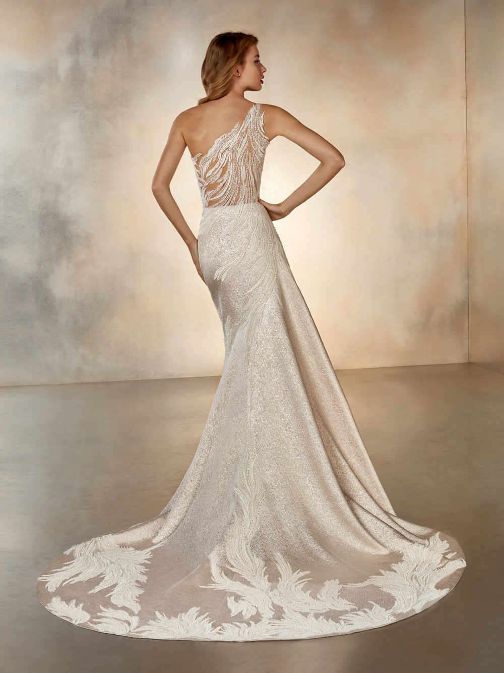 Pronovias Atelier Collection Moon Dance Wedding Gown Dress 2020 Full Back