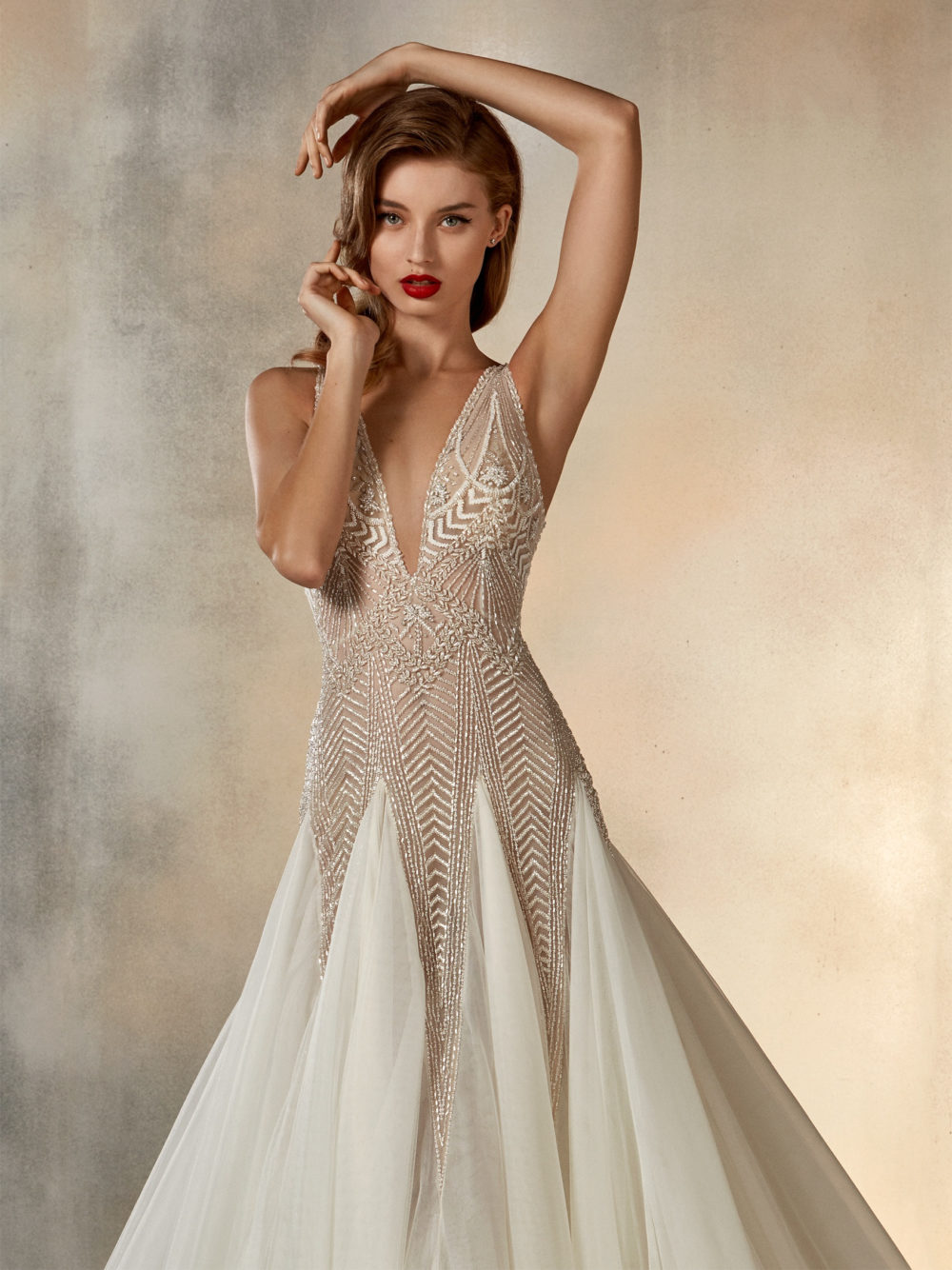 Pronovias Star Dreaming Wedding Gown Dress 2020 Atelier Collection Detail