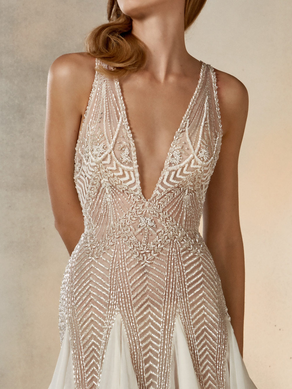 Pronovias Star Dreaming Wedding Gown Dress 2020 Atelier Collection Front