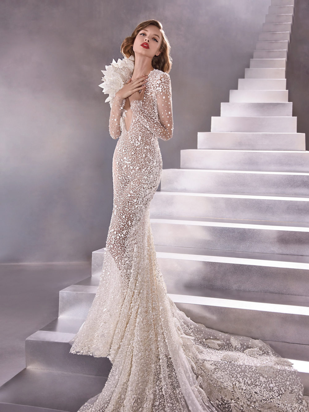 Pronovias Equilibrium Wedding Gown Dress 2020 Atelier Collection Full
