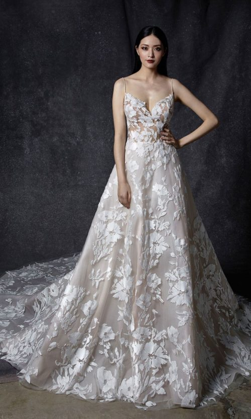 Odesia by Enzoani Wedding gown dress front