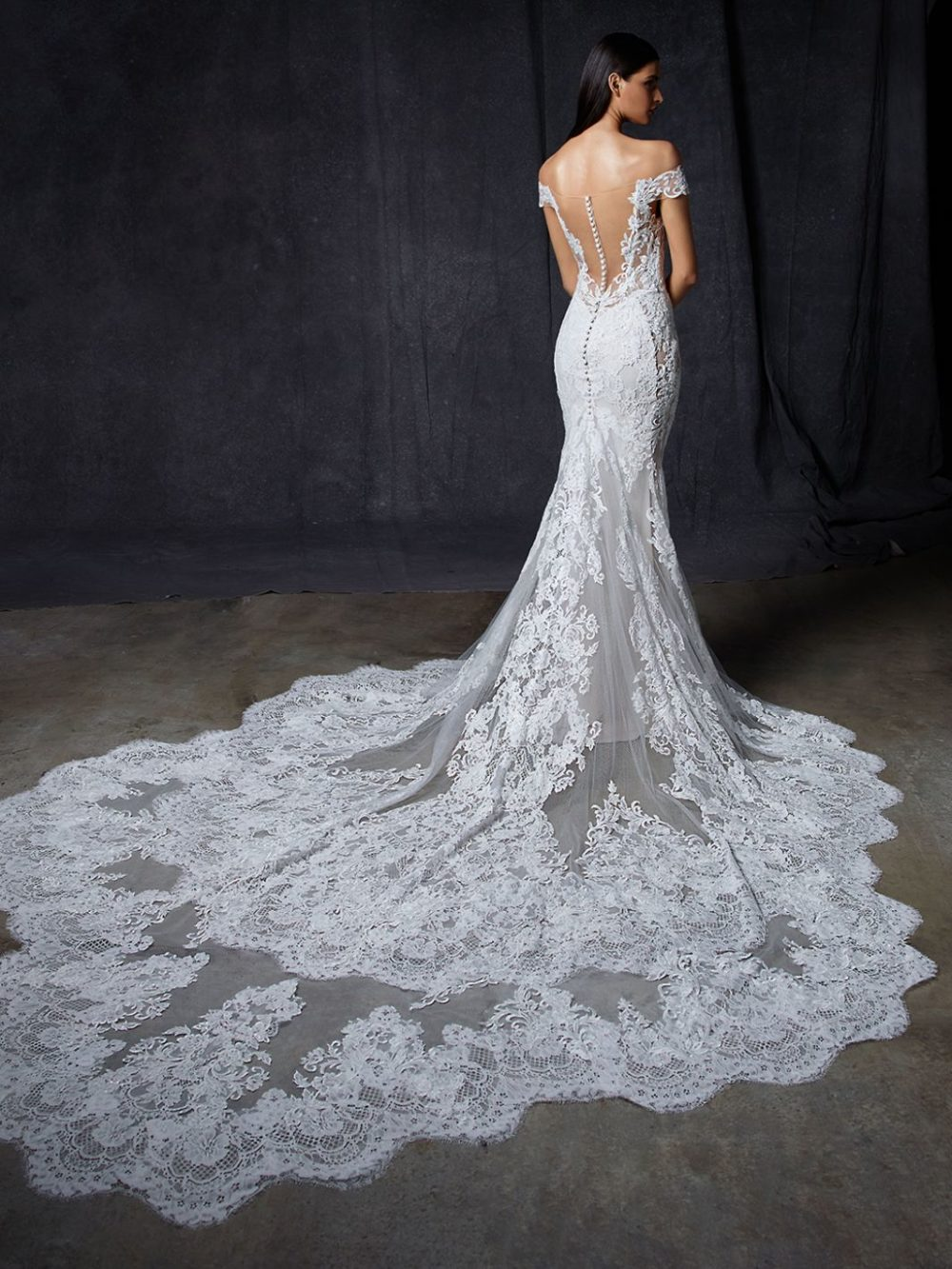 Olive by Enzoani Wedding gown dress back