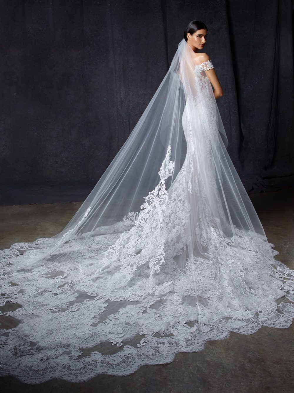 Olive by Enzoani Wedding gown dress veil