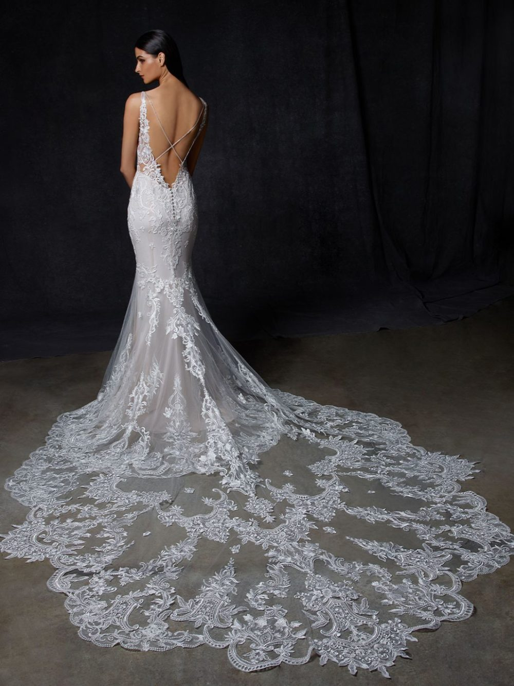 Olyvia by Enzoani Wedding gown dress back