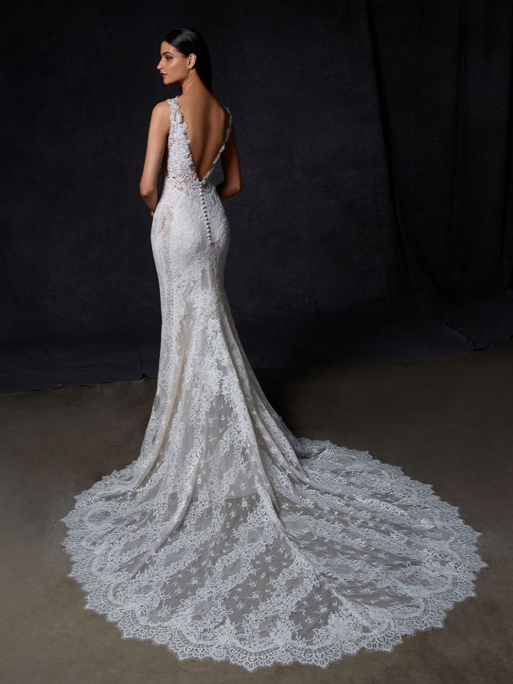 Omega by Enzoani Wedding gown dress back