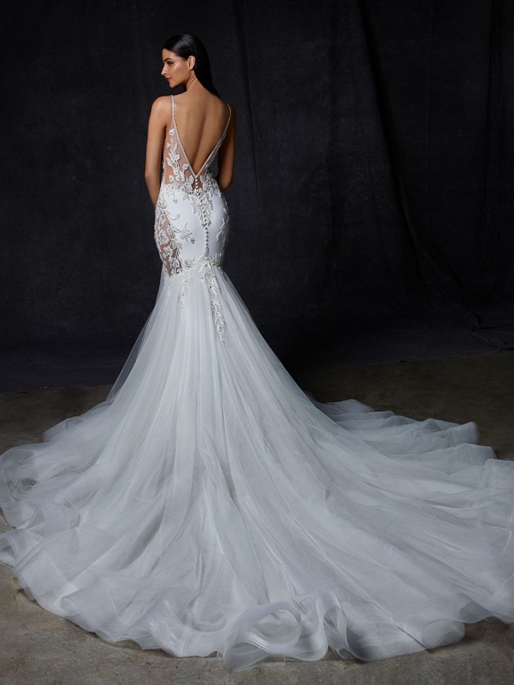 Ovia by Enzoani Wedding gown dress back