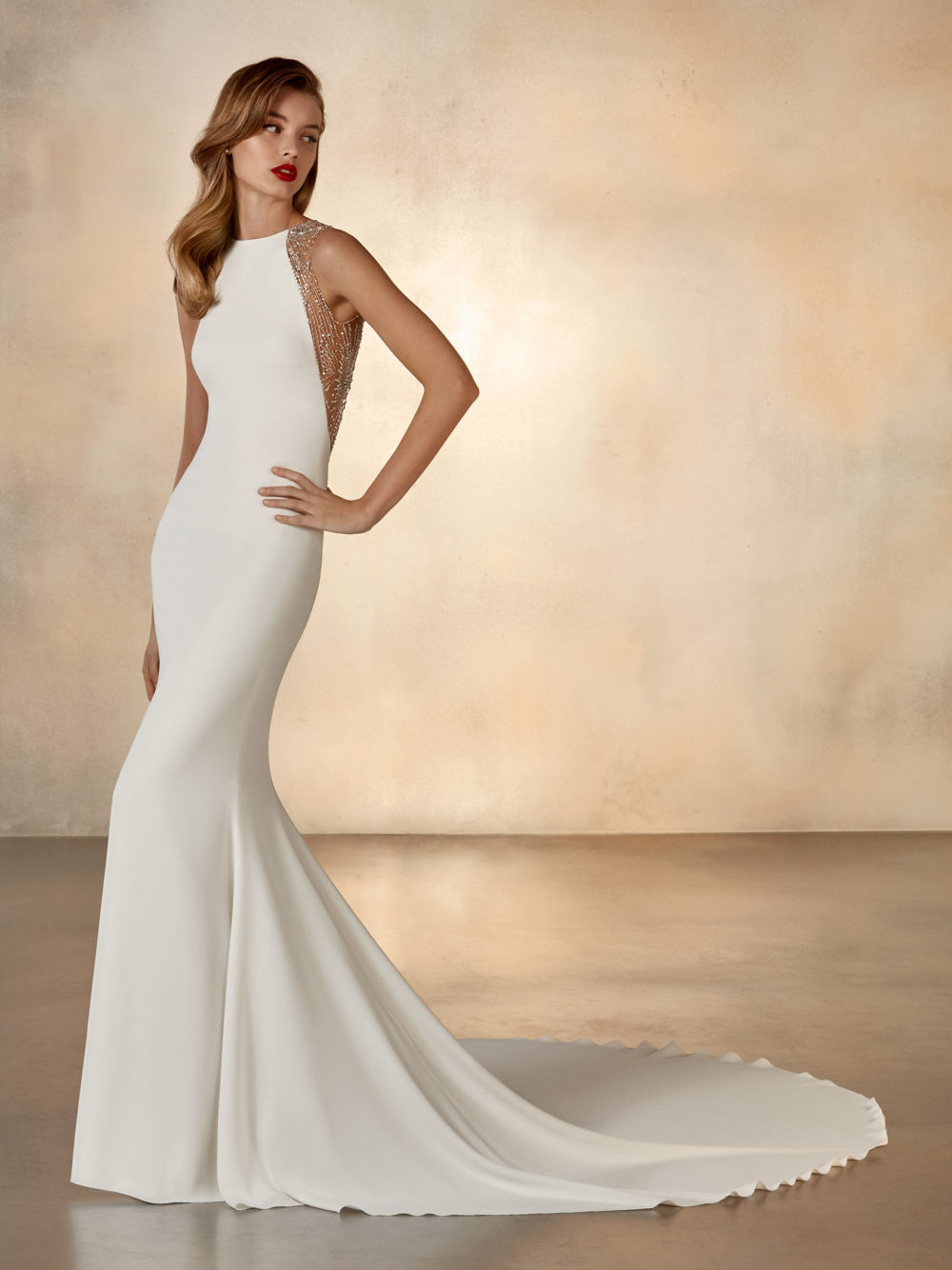 Pronovias Atelier Collection Galaxy Wedding Gown Dress 2020 back Detail Side