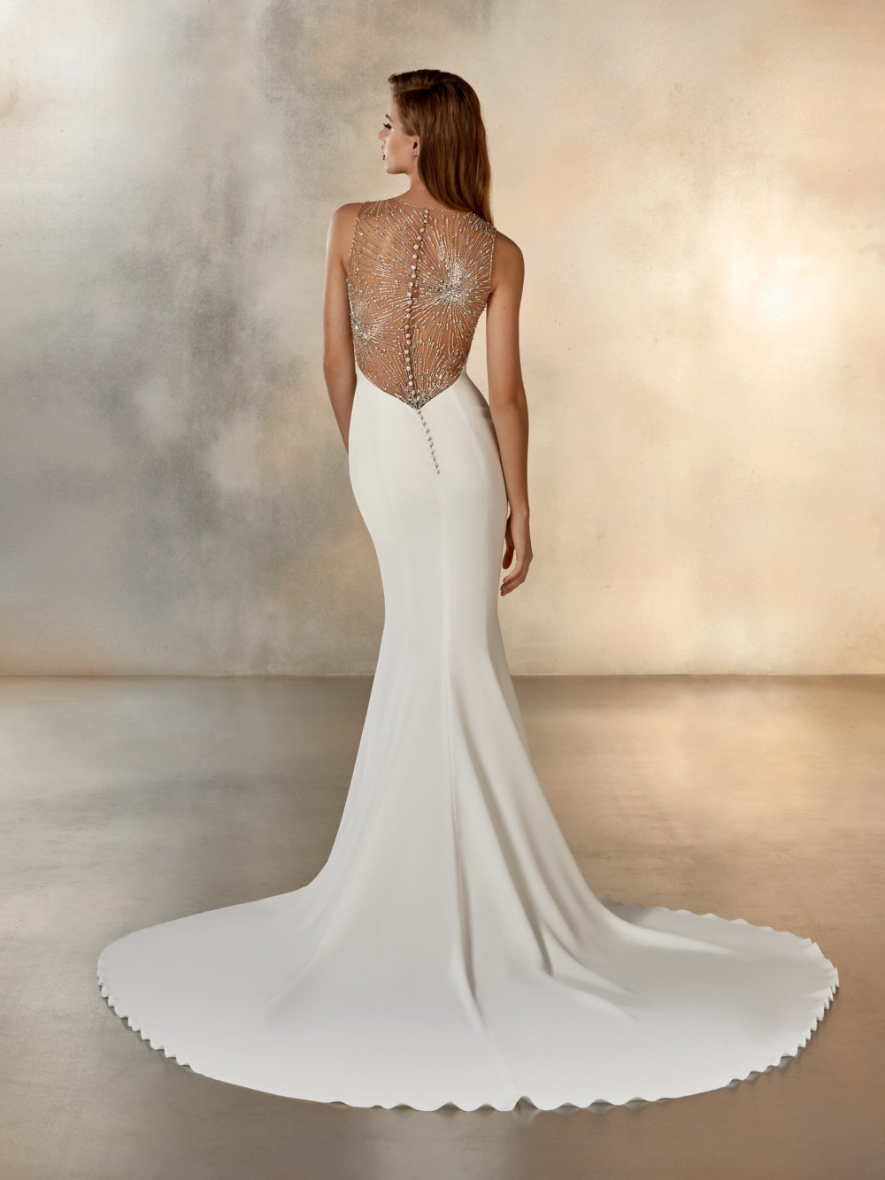 Pronovias Atelier Collection Galaxy Wedding Gown Dress 2020 back Detail 2