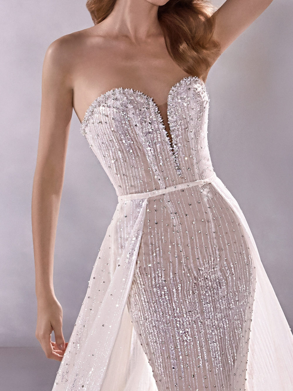 Pronovias Milkyway Wedding Gown Dress 2020 Atelier Collection front detail