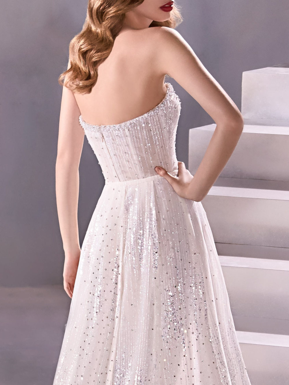 Pronovias Milkyway Wedding Gown Dress 2020 Atelier Collection back detail