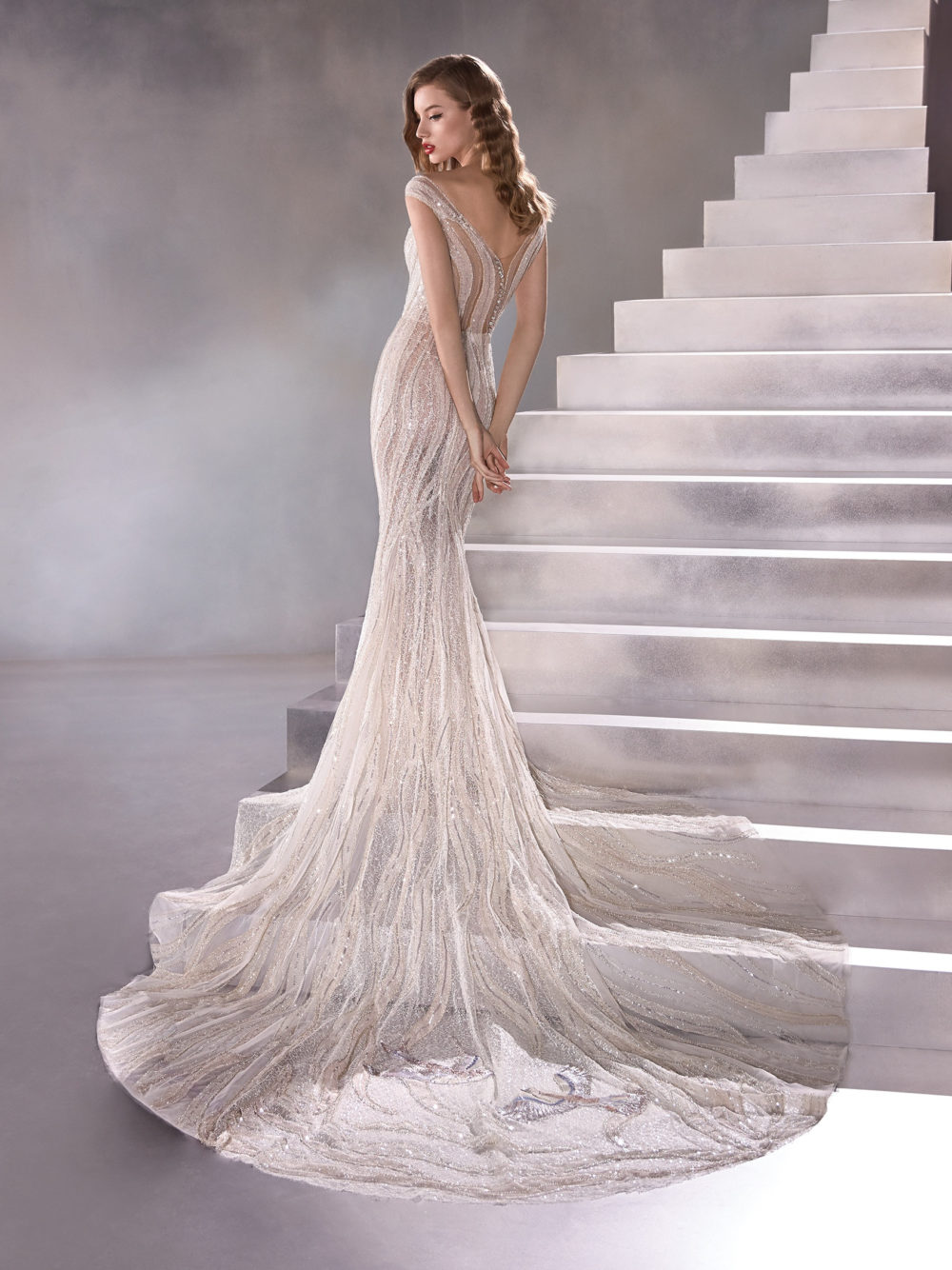 Pronovias Odyssey Wedding Gown Dress 2020 Atelier Collection Back