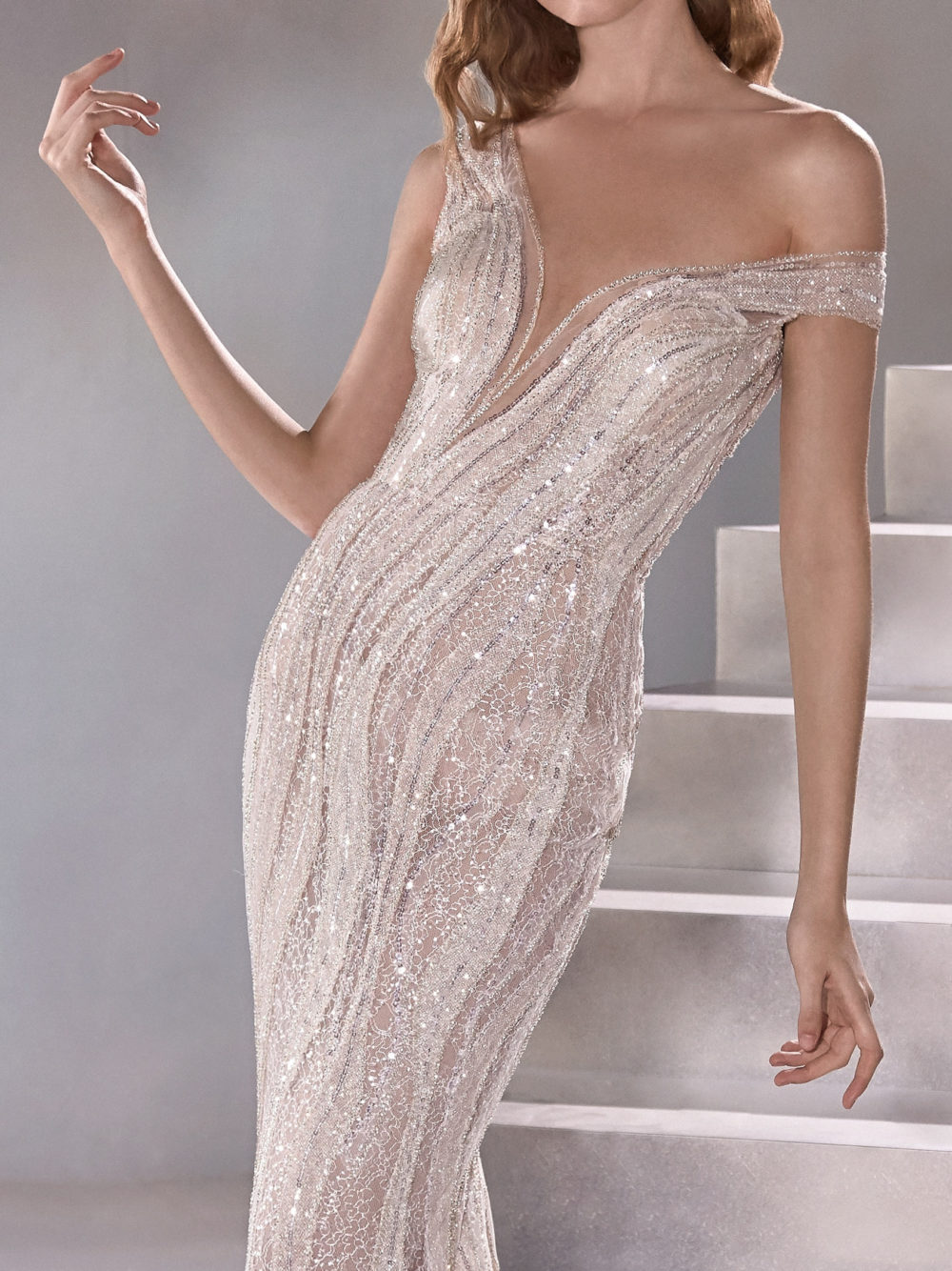 Pronovias Odyssey Wedding Gown Dress 2020 Atelier Collection front