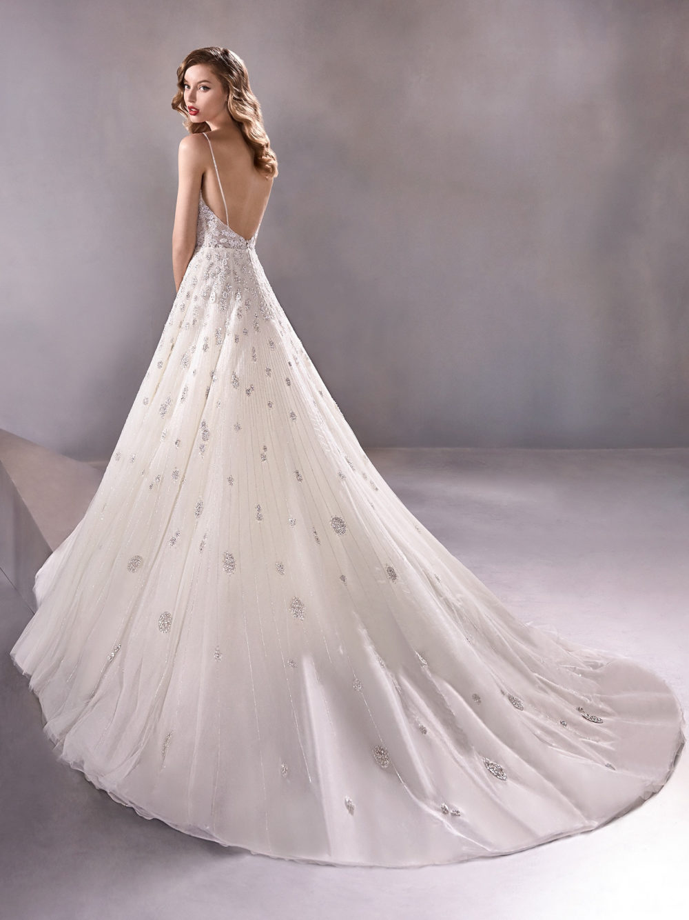 Pronovias Shining Star Wedding Gown Dress 2020 Atelier Collection back