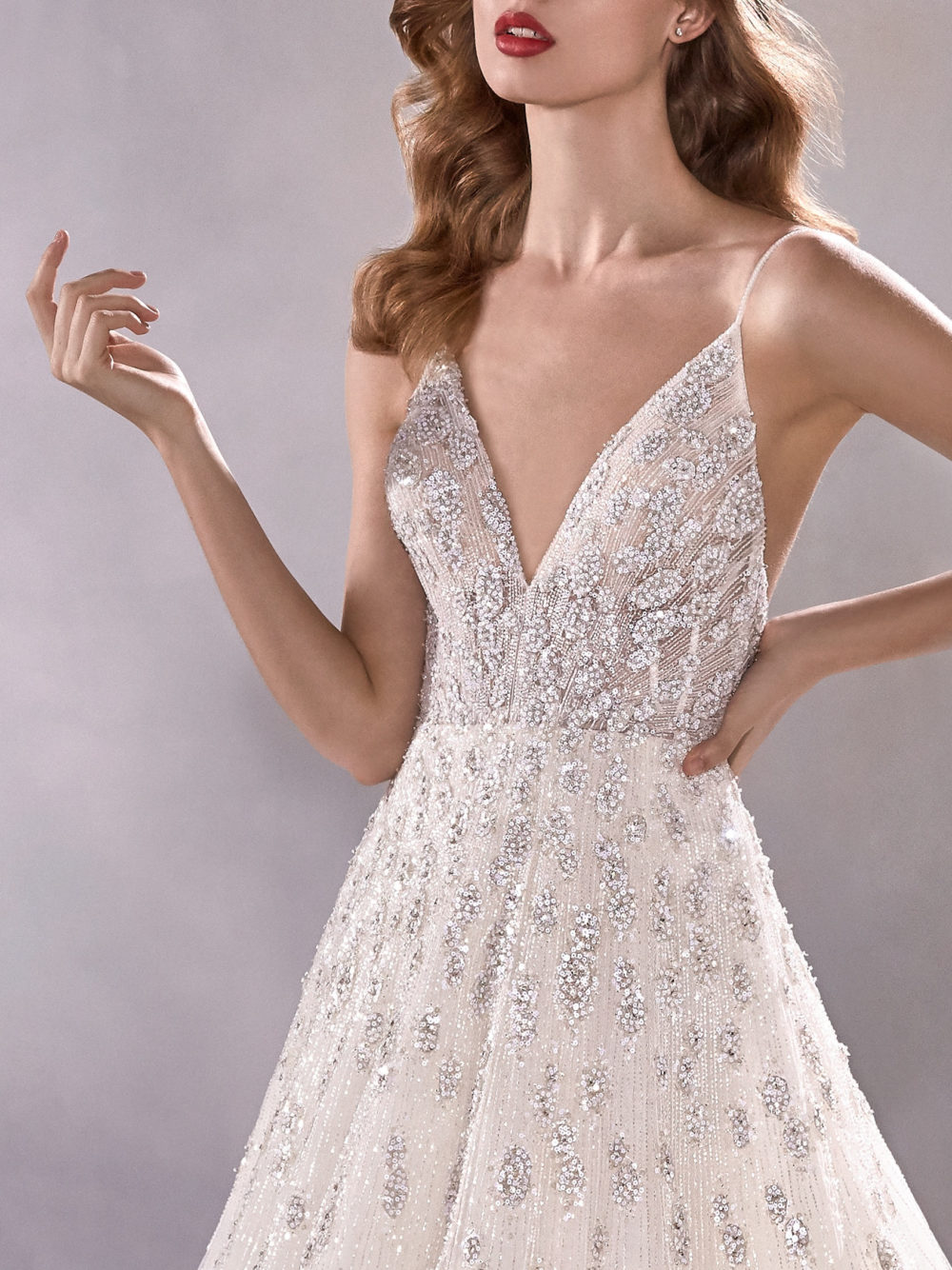 Pronovias Shining Star Wedding Gown Dress 2020 Atelier Collection body detail